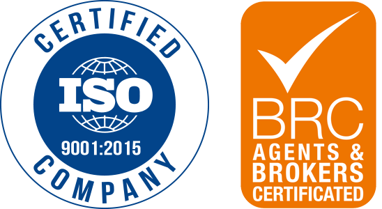 Certified ISO 9001 - BRC Agents & Brokers